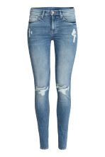 Shaping Skinny Regular Jeans - Denim blue/Worn - Ladies | H&M CN 2
